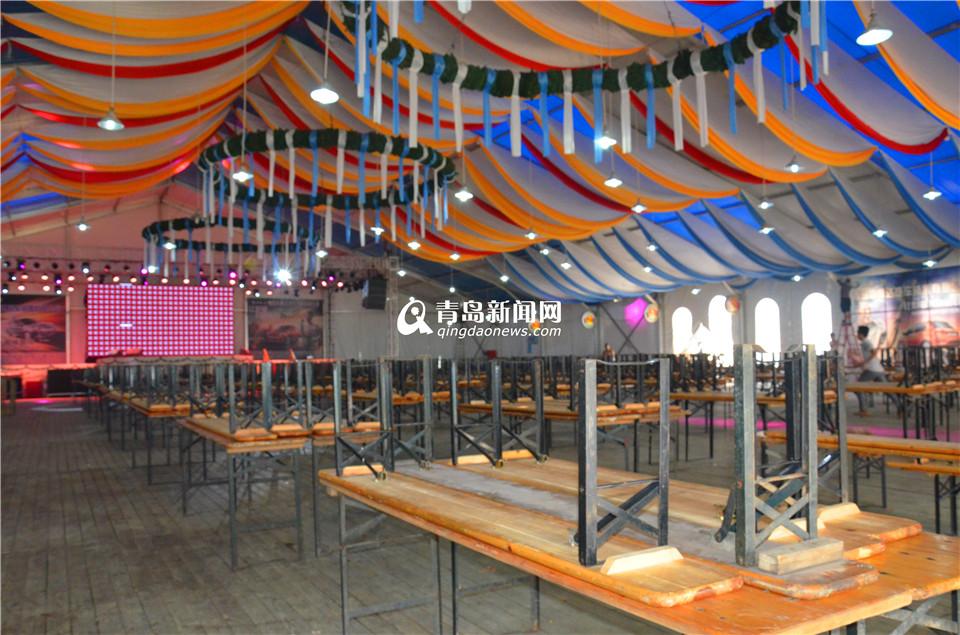 啤酒节周六开幕 啤酒大篷搭建完毕(组图 -  东方.旭 - 东方.旭的博客