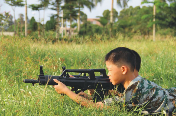 提升孩子意志 我是特种兵军事夏令营集结号吹