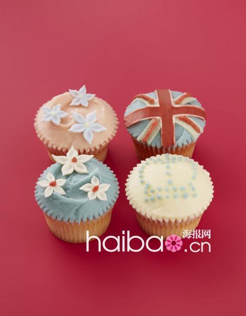 伦敦蛋糕店推出王室Couple结婚一周年纪念纸杯蛋糕