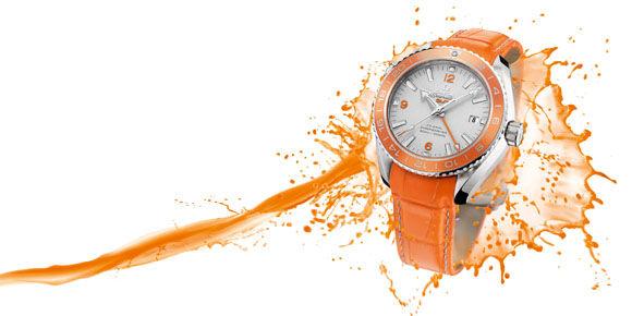 欧米茄海马系列海洋宇宙橙色陶瓷腕表