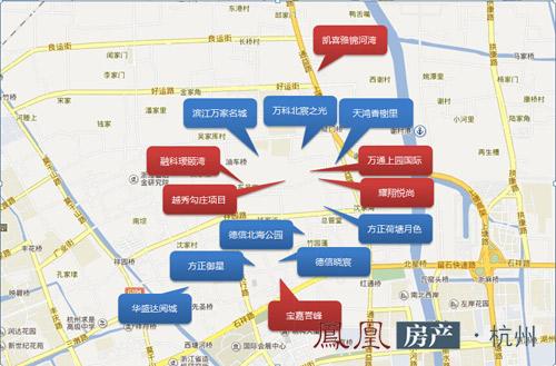 杭州城北楼市楼盘分布图