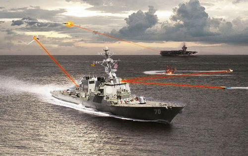 美国海军公布舰载激光炮击落飞机视频