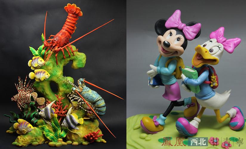又有动漫,游戏等经典人物题材,还有各种动物,花卉,半立体画框面塑