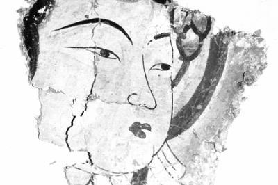 吐鲁番石窟发现壁画遗址