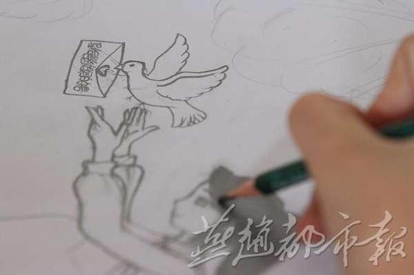 赞皇留守女孩手绘孤独:想妈妈的时候就去画画(图)