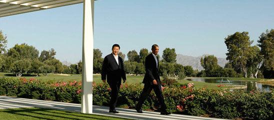 习近平在加州庄园会晤奥巴马