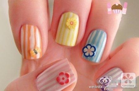 春季n款可爱美甲 小清新从指尖开始