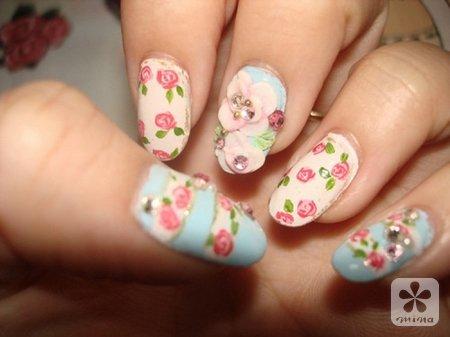 春季n款可爱美甲 小清新从指尖开始_频道_凤凰网