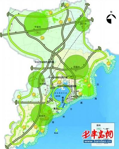 青岛市森林城市建设总体规划图