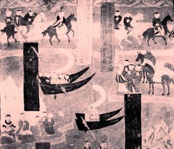[考古]古代双体船:敦煌壁画中的并舟之舫图片
