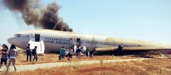 韩亚航班客机失事现场