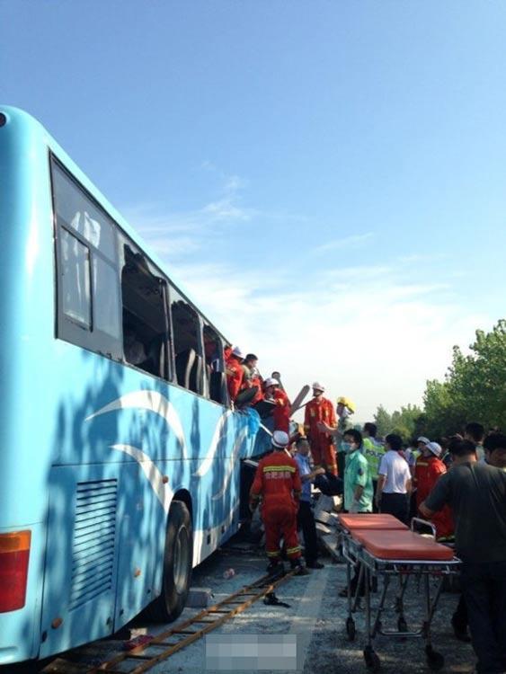 安徽高速路发生追尾事故致10死36伤