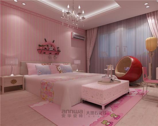安华瓷砖美国橡木卧室效果图