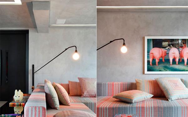 巴西 44 坪水泥粉光公寓改造 让阳光洒进来