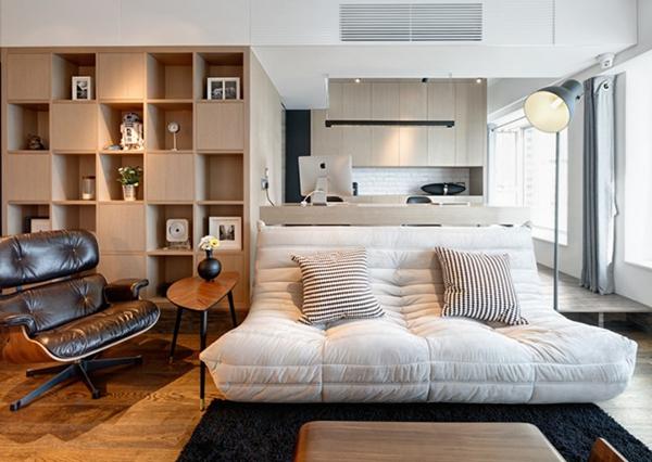 轻工业风的人文气息 香港高低差简约公寓