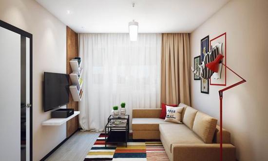 47平米单身公寓 清新绿色让家充满春天的闲适