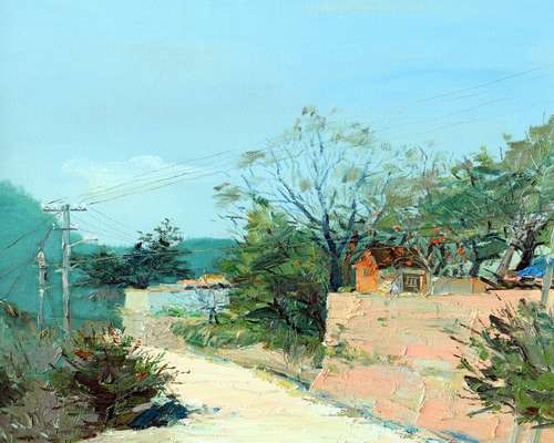 青岛开发区旅游局探索旅游推介新方式用油画讲述西海岸的美