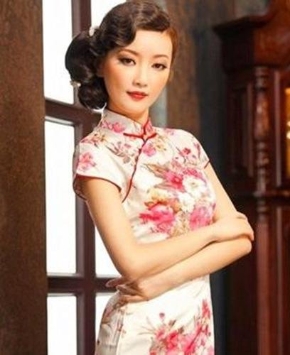 适合旗袍的新娘发型设计集锦