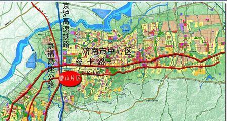 济南市规划局网站公示了西客站片区部分道路建设方案及用地范围-济