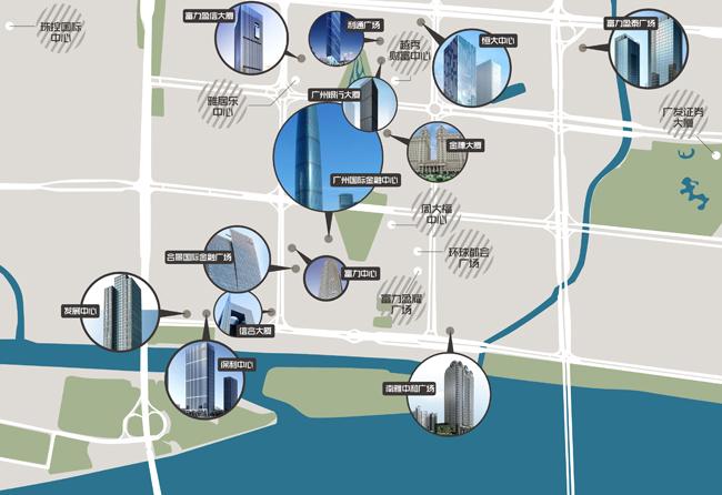 珠江新城写字楼地图