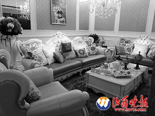 效果图 装修 家具/李先生经营的家具店中其中一套欧式沙发