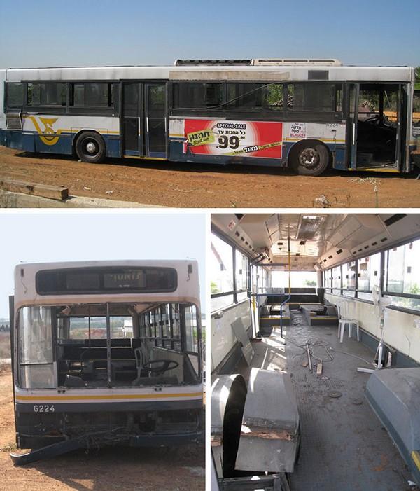 买了一辆废弃的公共汽车,在设计师朋友们帮助下,完全改造公共高清图片