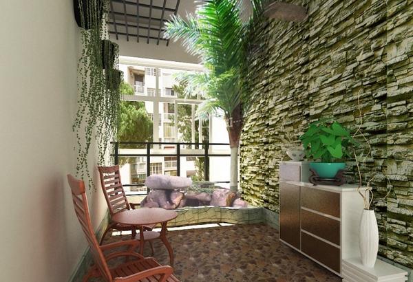 时尚美观的入户花园设计 高清图片