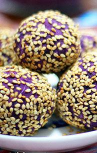 紫薯蜜枣丸
