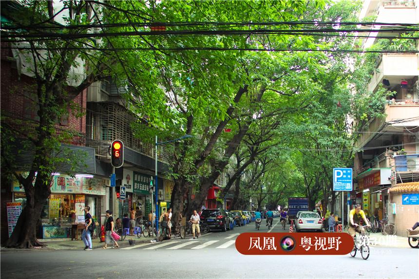 光塔路是距离珠江一公里外的一条长493米,宽9米的浓荫街肆,如今除了沿街鳞次的清真店铺,表面上再看不出其他的特别之处。
