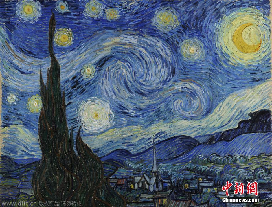 为模仿著名画家梵高的名作《星夜》,他走遍了全美,拍摄了一组主