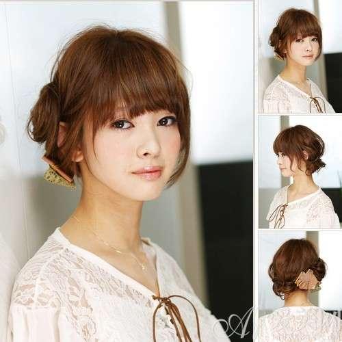 齐刘海发型新扎法 让你时尚又清爽
