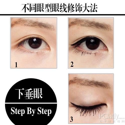 让双眼放电技巧 3种眼形画眼线再不怕失手