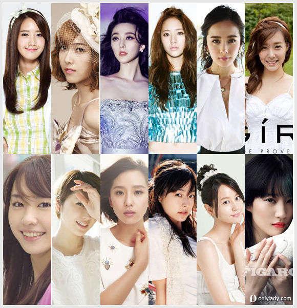 韩媒评亚洲女神发型 你最爱谁?