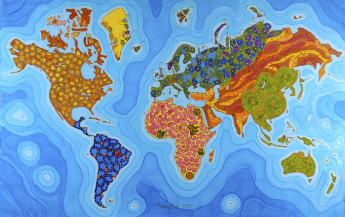 科学与艺术 疾病细胞绘制的世界地图