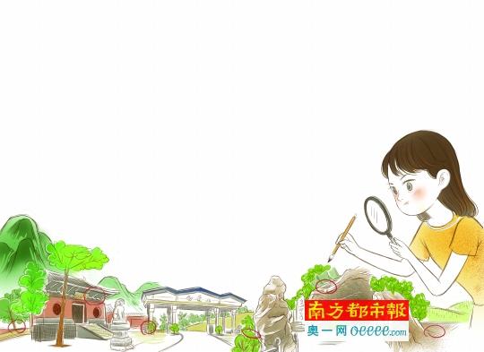 植物角挂牌卡通
