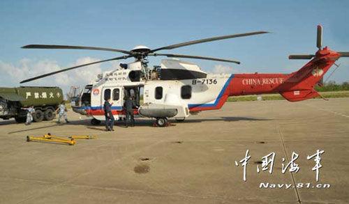 中国南海舰队航空兵全力保障空中搜救飞机安全