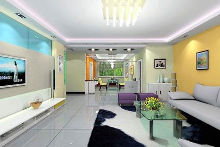 地板尖的艺术气息 32款极简精致客厅效果展示(图)
