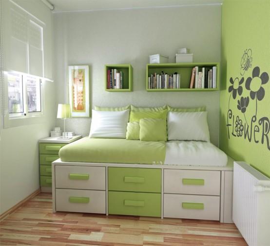 青少年卧室简洁装修图片   装修网少年房间设计效果图大全