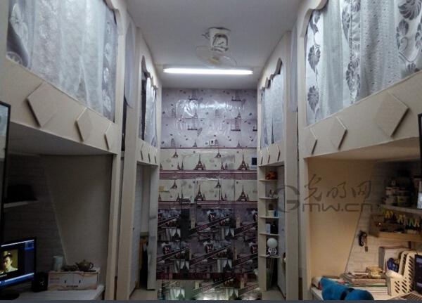 南昌大学男生自己装修寝室 美得让女生嫉妒