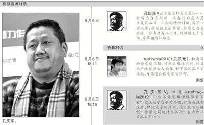 北大中文系教授孔庆东微博