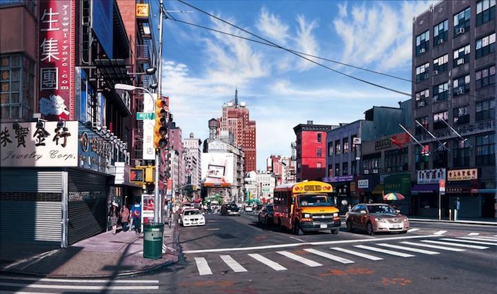 业.这些逼真的城市街景,甚至比照片更加真实,画面的每一个角图片