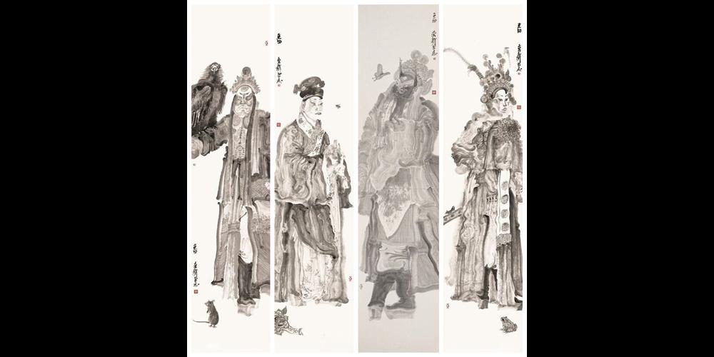 传统戏曲人物的《角色》系列(摘选)