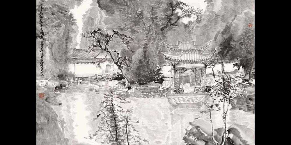 兴福寺写生-01-58cm×86cm