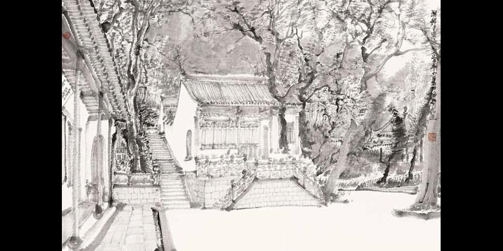 兴福寺写生-10-58cm×86cm