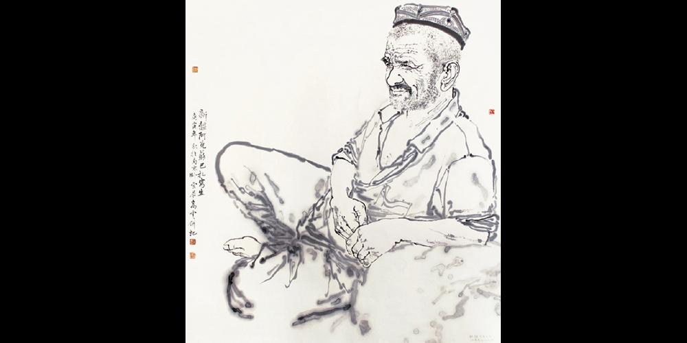 新疆写生之一·97cmx90cm(江苏省美术馆收藏)