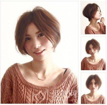 弧度修饰脸型圆脸也能驾驭的短发
