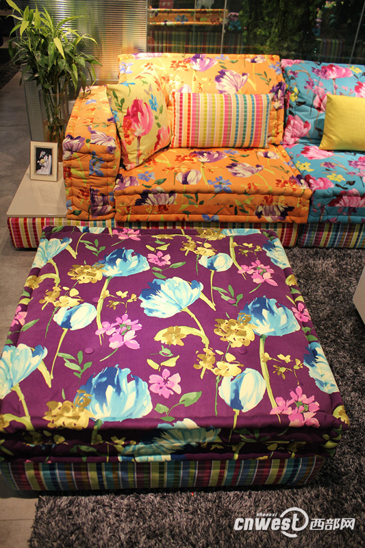 呆板客厅大逆袭 色彩沙发不能少