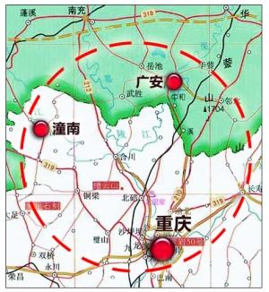 广安将纳入重庆城市群统一规划