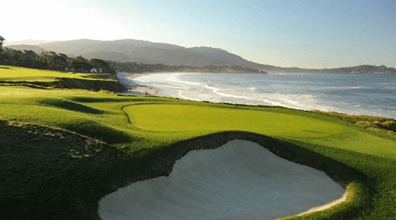 圆石滩林克斯球场——美国加州圆石滩(pebble beach golf