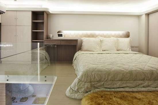 小户型卧室装修效果图大全2014图片之33平现代简约阁楼房